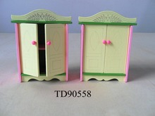 W008 1 New children gift kids wooden toy Furniture doll house furniture DIY Educational living room