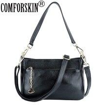 COMFORSKIN Luxury Handbags Women Bags Designer Cross- body Cowhide Leather European And American Travelling Shoulder