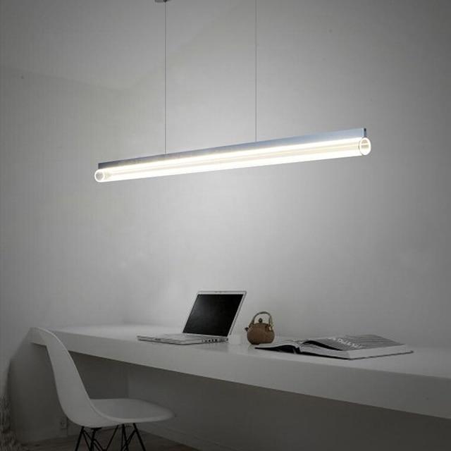 € 226.95 |Antique115cm LED de la lámpara moderna lámpara de diseño  minimalista oficina europea de barra de la cocina tubo de acrílico llevado  ...