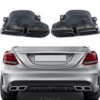 2pcs Chrome 304 Stainless Steel Car Exhaust Pipe Muffler Tips For Mercedes W205 BENZ C63 2012 2013 2014 2015 AMG Accessories