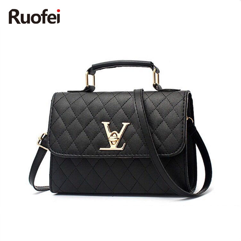 2017 designer brand bag ladies quality PU leather handbag dress solid shoulder bag mini bag lady messenger wallet and handbag