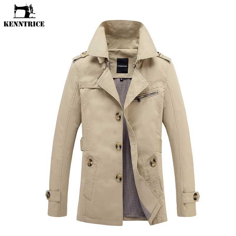 Kenntrice осень ветровка Для мужчин куртка Для мужчин S длинный плащ пальто Мужское пальто Тренчи для женщин Пальто для будущих мам человек Slim Fit Повседневное модный бренд S-5XL