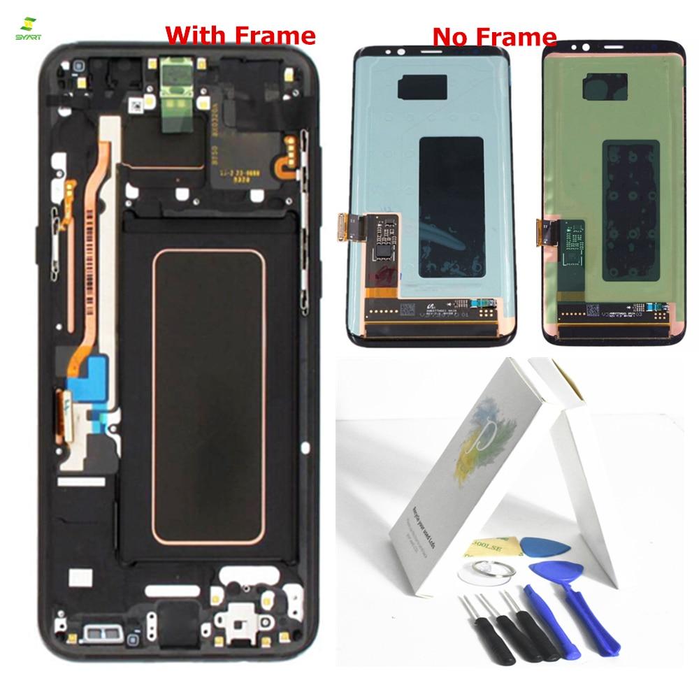 S8 G950 Lcd Con Cornice per il SAMSUNG Galaxy S8 Sostituzione Dello Schermo LCD Touch Digitizer Assembly S8 S8 Più G950 G950F g955 G955F