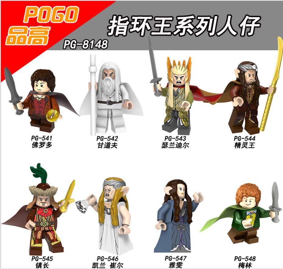 8pcs/set The Lord of The Rings Building Blocks King Of The Elves Frodo Merlin Galadriel Bricks Toys for Children Figures купить в Москве 2019