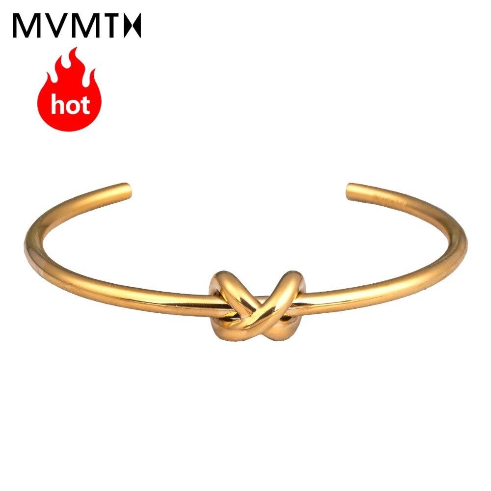 MVMT fashion trend gold bracelet casual vintage metal bracelet elegant lady bracelet KNOT CUFF series цена 2017