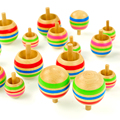 Educational Toys Traditional Wooden Toys for Children Magical Reverse 3 Gyro Mounted Jigsaw Puzzle Educational Toys for Kids