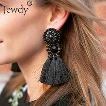 Fashion Hanging Drops Bead Long 4 Tassel Earrings Studs Stone Red Bijouterie Ear Jewelry Bon Bon Color For Women Wedding Gifts