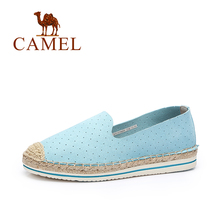 Camel 2017 Camel Women's Casual Shoes New Sweet Breathable Flat knitted Fisherman Shoes Comfortable Carrefour Shoes A71339609