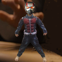 Child Deluxe Ant Man Muscle Costume Boys Marvel Superhero Cosplay Halloween Fancy Dress CS10495