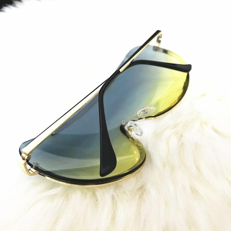 Rimless Gold Clear Sunglasses Men Women Brand Designer Aviator Clear Sunglasses 15