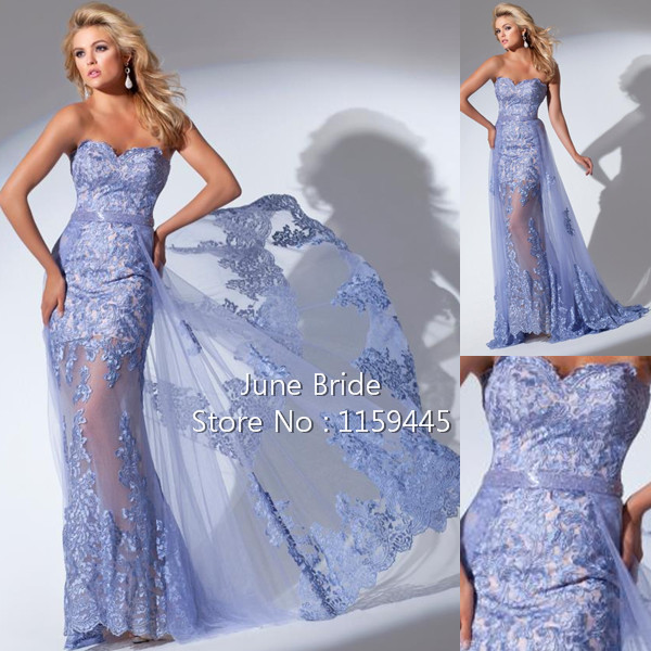 Periwinkle Prom Dress One Shoulder