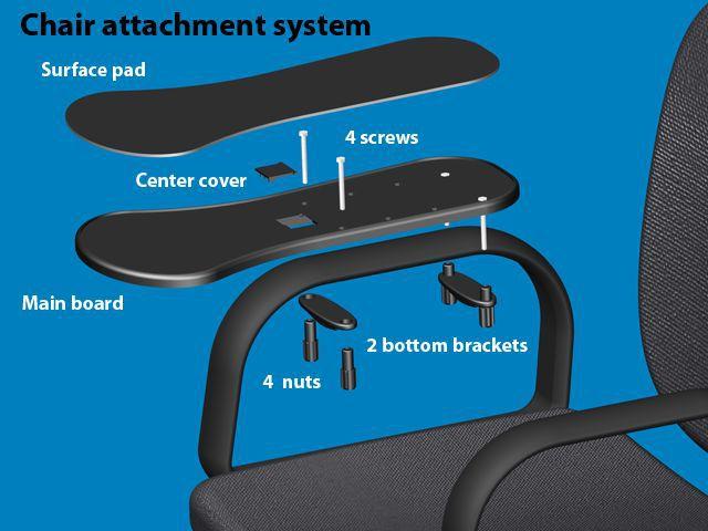 Gmilli Oficina Mesas y sillas computadora soporte de mano alfombrilla - Periféricos de la computadora - foto 4