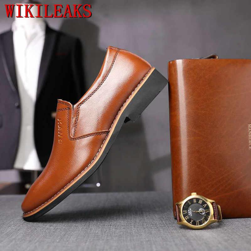 Elbise ayakkabı erkekler hakiki deri makosenler resmi ayakkabı erkekler klasik zapatos de hombre de vestir rahat zapatos de vestir hombre