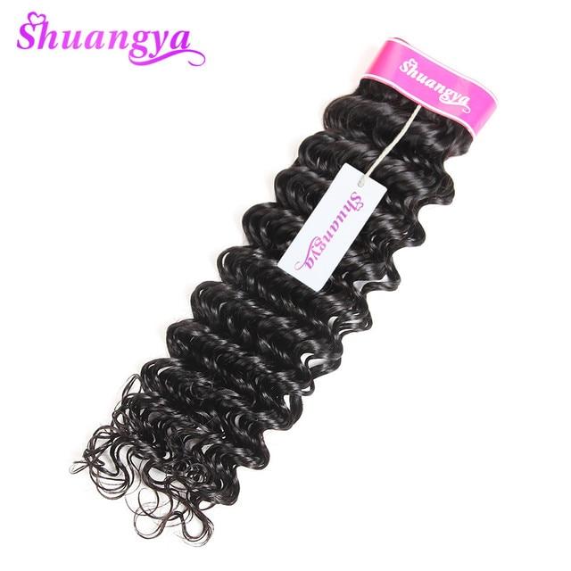 Deep Wave Brazilian Hair Weave Bundles 8-28Inch Hair extension Brazilian Human Hair Bundles Natural Color Shuangya Hair nonRemy