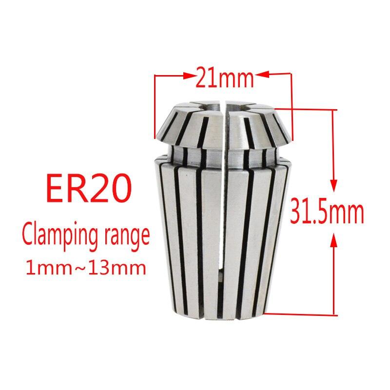 Купить с кэшбэком AAA Precision 0.003mm ER20 2-13mm engraving machine chuck accessories spring CNC chuck sleeve milling cutter4 6 8 10 12 3.175mm