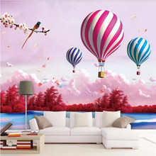 Custom wallpaper cartoon Mediterranean living room sky dream children's room background wall decoration waterproof material newborn photography props baby lace romper with ribbon princess costumes set infant girls clothes yjs dropship