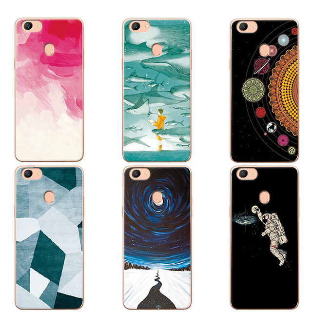 huge discount a058c d6dc6 US $1.1 25% OFF|For OPPO F5 Couple Phone Case For OPPO F5 A73 A73T , 14  Patterns Universe Planet Astronauts Design Coque For OPPO A79 Fundas-in  Fitted ...
