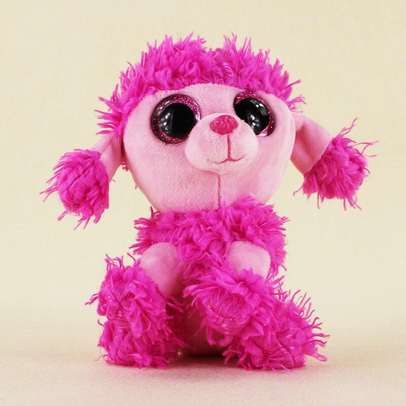 15 см Ty Beanie Боос большие Средства ухода для век плюшевые игрушки куклы розовый Пудель собака подарок для маленьких детей Бесплатная доставка
