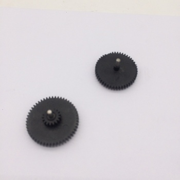 Original Gears (pair) with shafts for Zebra LP2844 LP2844-Z tlp2844 tlp2844-z Thermal Printers image