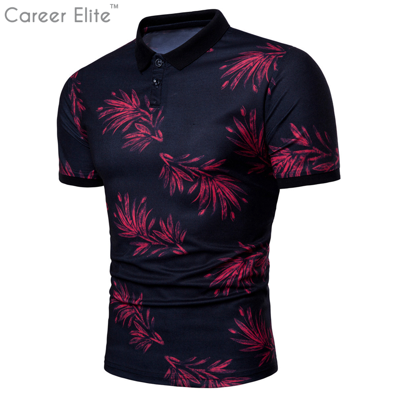 New Clothes 2018 Men Personality Short-sleeve Printing Polo Shirt Large Size Fashion Trend Shirts For Men Plus Size Tops Tee