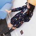 2017 New Spring Summer Girls Birdie Print Dress Children Cotton Dress Kid Long Sleeve Style Toddler Print Dresses,3-15Y