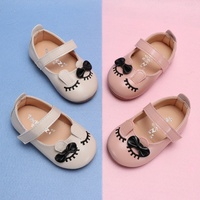 Korean PU Children's Baby Shoes Pure Color First Walkers Soft Bottom Non Slip Toddler Shoes Kids Baby Girls Princess Shoes 1 3Y