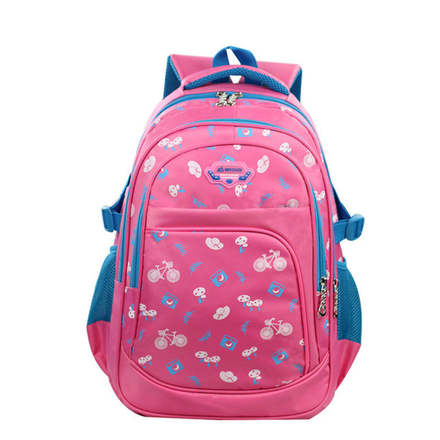 00c2845341d6 2018 Colorblock Bright color kids schoolbag Floral print Popular and  durable Student satchel Waterproof lightening backpack