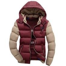 New Arrival Men's Brand Winter Warm Coat Casual Men Hooded Cotton Winter Jacket Plus Size M-3XL