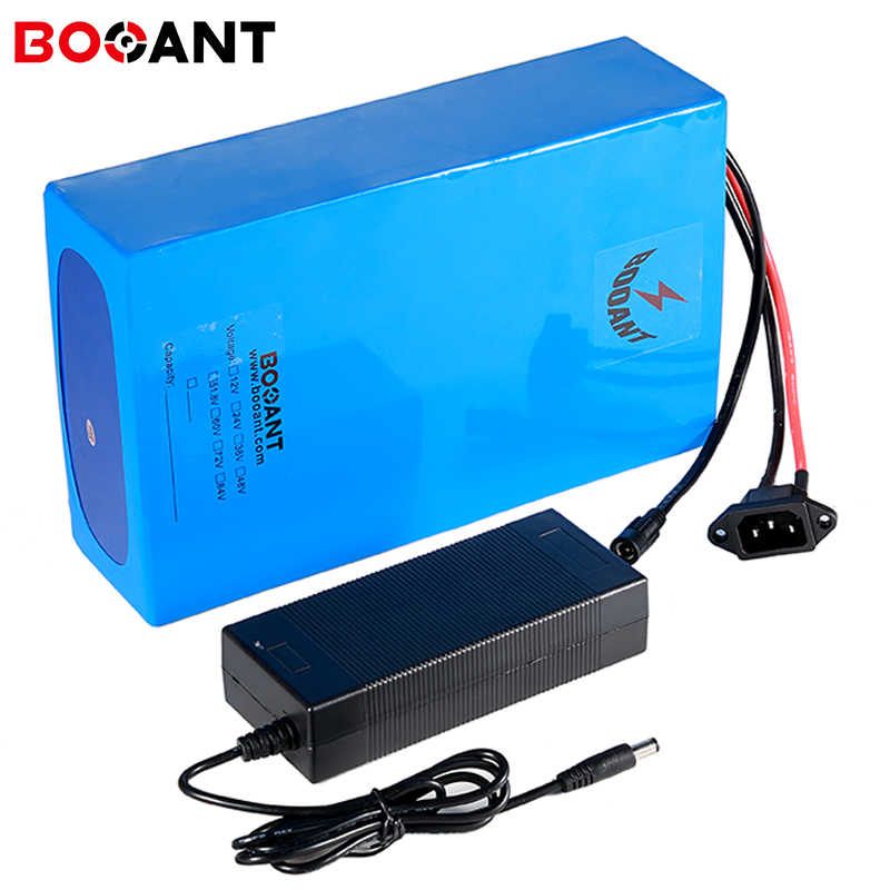 2000W 48V 20Ah eBike Battery For 18650 Cell Lithium Battery 48V With 2A Charger Electric Bicycle Battery 48V Built-in 50A BMS