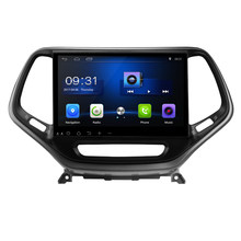 "Tesla Tipo Vertica tela de 10.2 ""Android 7.0! PC DVD do carro Multimedia DVD Player GPS Navi Radio Stereo Fit JEEP Cherokee 2014-2018(China)"