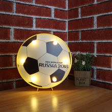 DELICORE 2018 Football Soccer decorative ball Night Lamp table light best gift choice for Football ball fans sports enthusiast(China)