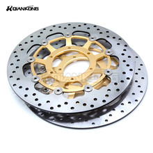 CNC alloy inner ring & Stainless steel outer ring 2 pieces motorcycle Front Brake Discs Rotor For HONDA CBR600 2007-2013 brand new motorcycle aluminum alloy inner ring
