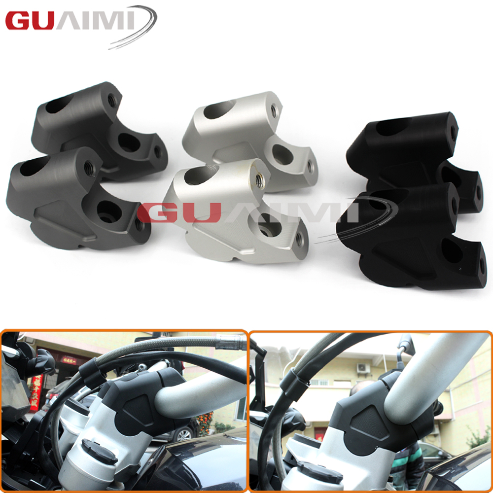 For BMW R1200GS LC 2013-2017 R1200 GS LC ADV Adventure 2014 2015 2016 2017 Motorcycle CNC Handlebar Bar Risers Kit for bmw r1200gs motorcycle mirrors riser extension brackets adapter fit for bmw r1200gs lc r1200 gs lc adventure 2013 2016