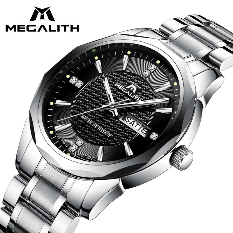 MEGALITH Armbanduhr Herren Sport Wasserdichte Analog Kalender Quarz Männer Uhr Luxus Top Marke Luxus Uhren Männer Montre Homme
