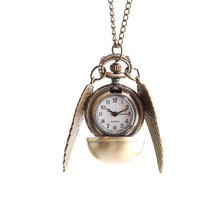 New Hot Sale Vintage Bronze Pocket Watch High Quality Flying Thief Style Fashion Best Christmas Gift Pendant