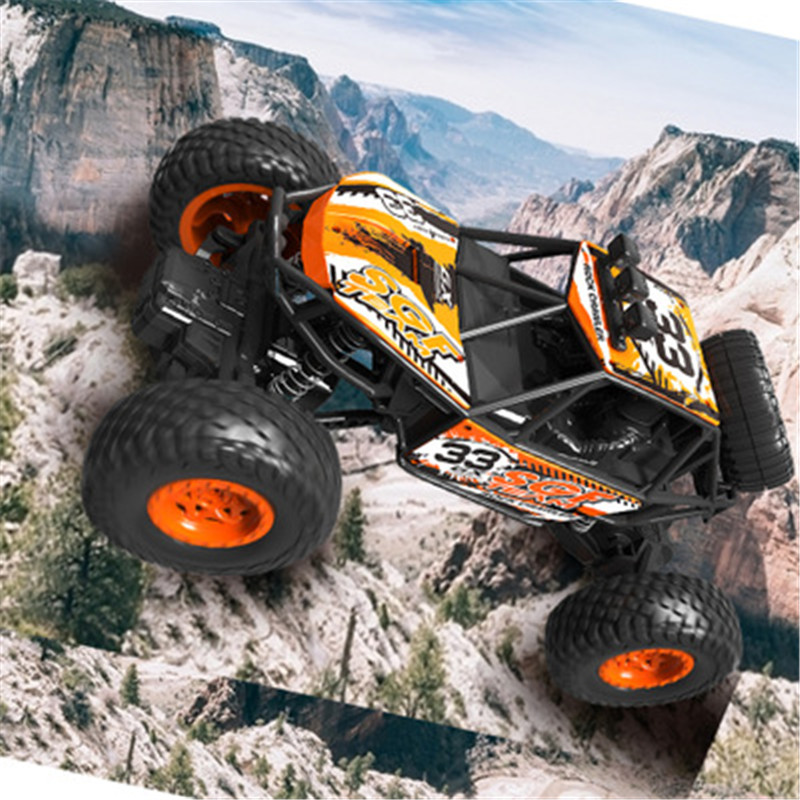 RC Car 2.4G 4CH Rock Crawlers Driving Drive Bigfoot Electric 1:18 1:20 High Speed Remote Control Car Model OffRoad Vehicle Toy image