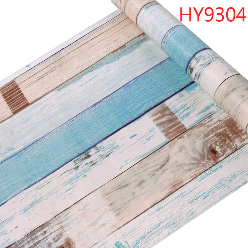 45cm*10m Roll Size Self-adhesive Classic Retro Wooden Wallpaper papel de parede for living Room and Kids Room Decoration