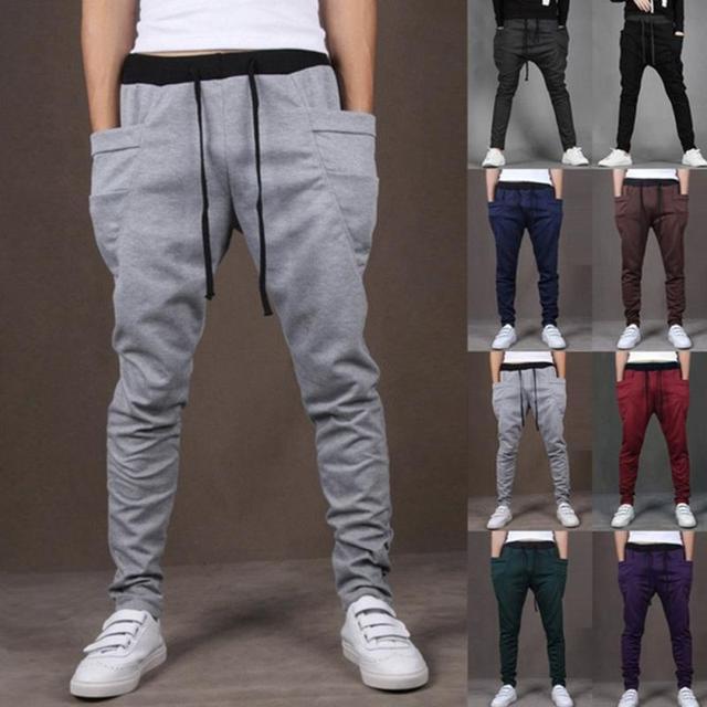 299478b1e Hip Hop Pants Boys Skateboarding Pants Men Joggers Sports Sweatpants Big  Pockets Gym Trousers