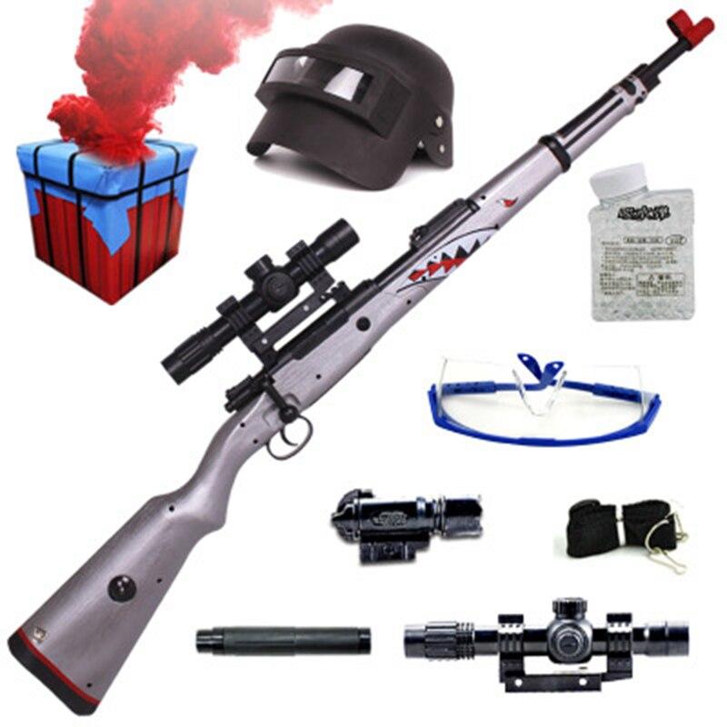 Zhenio juguete KAR98K bola de Gel tirador de bala de agua suave pistola de golpes dardos de patio libre de armas para regalo de Navidad - 2
