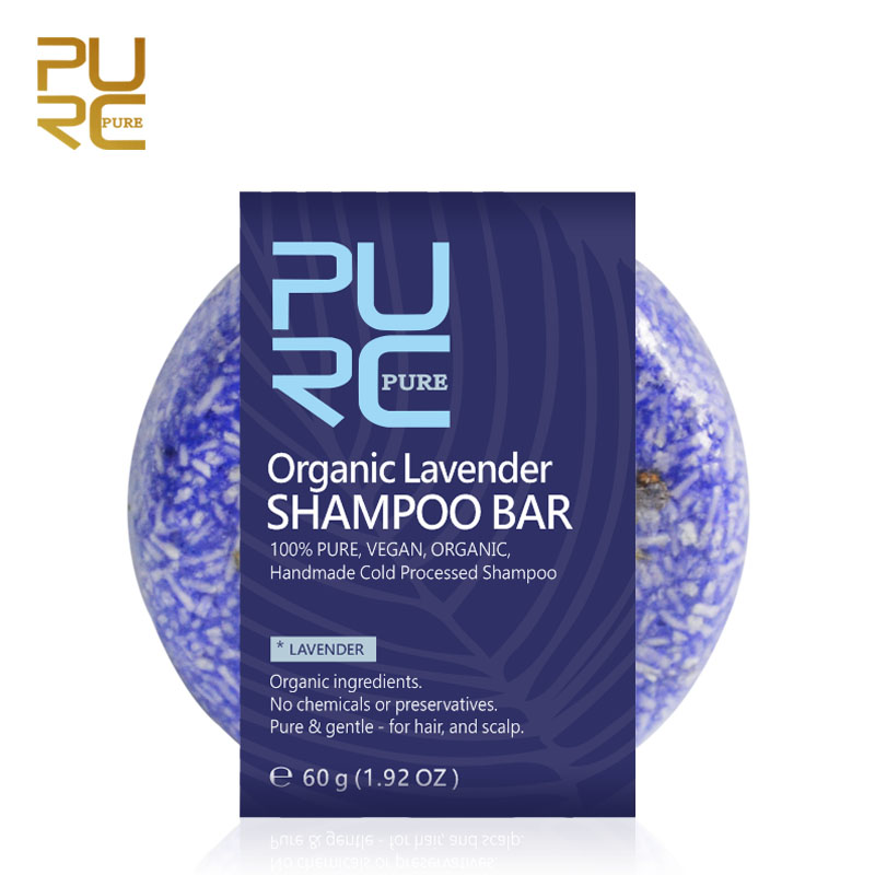PURC Organic Lavender Shampoo Bar 100% PURE and Vegan Handmade Cold Processed Hair Shampoo No Chemicals or Preservatives 1x purc 12