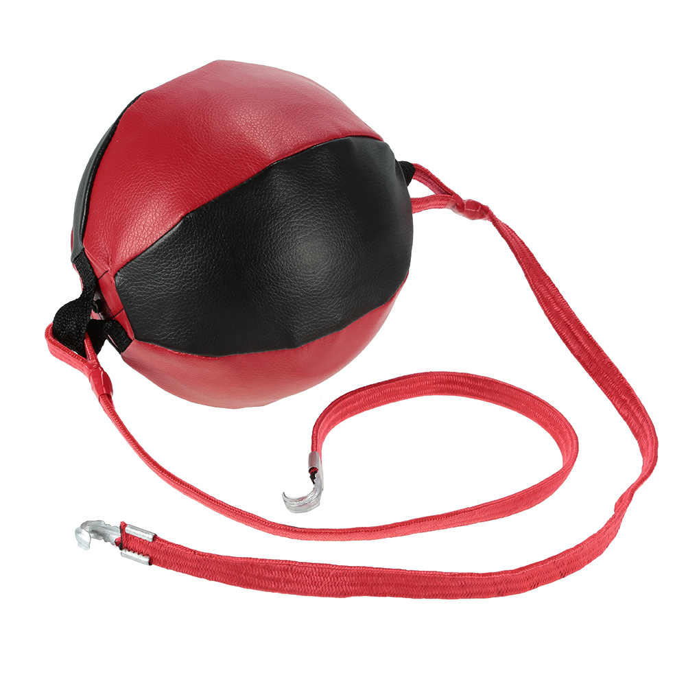 Punching Bag Tinju kecepatan Bola Tiup Tas Pear Boxing Punching Bag Ganda End Punching Kecepatan Bola Meninju Bola Mencolok