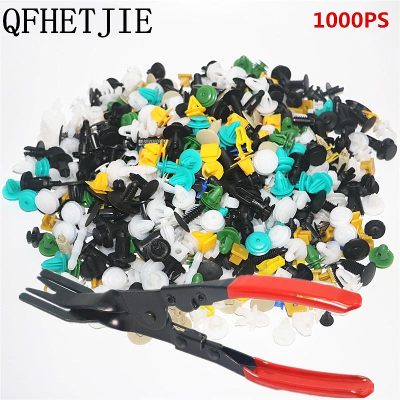 500/800/1000pcs Car Body Plastic Push Pin Rivet Fasteners Trim Moulding Clip Screwdriver 60 Kinds Paint, Body & Trim