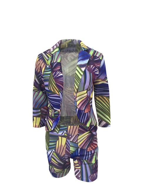 Calças Femininas Terno Uniforme Traje para As Mulheres Do Escritório de Negócios de moda Cor Gradual Kit Pantsuits Blazer Jaqueta Curta Outono Inverno