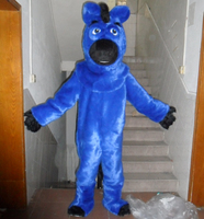 Kısa kürk at kostüm güzel mavi at maskot kostüm