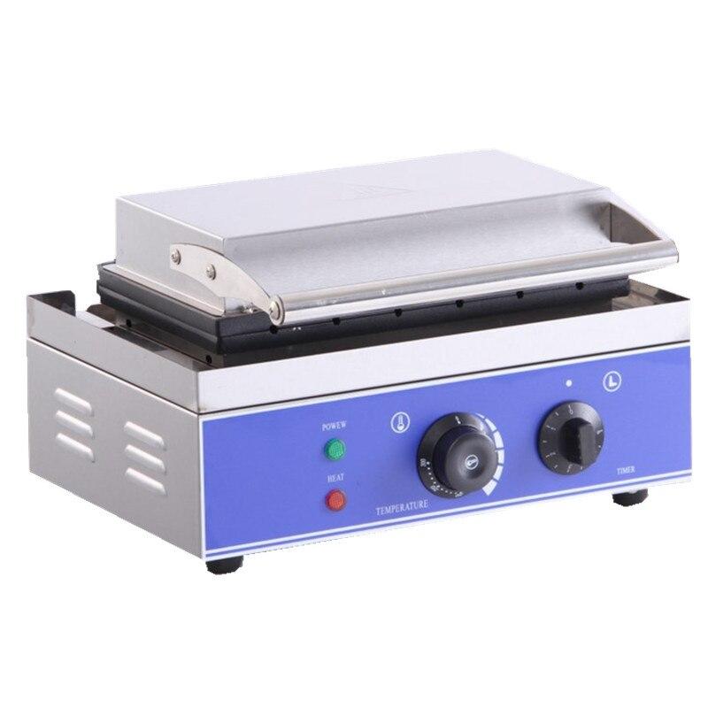 220 V/110 V Ticari Elektrikli 6 Adet Gevrek Mısır Hot Dog Waffle makinesi yapışmaz Fransız Muffin sosis Makinesi