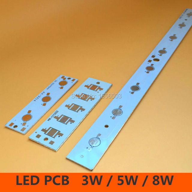 LED High Power PCB Board Empty Lamp Panel Aluminum Heat sink for 3W 5W 8W Strip Rectangle LED Lamp Plate