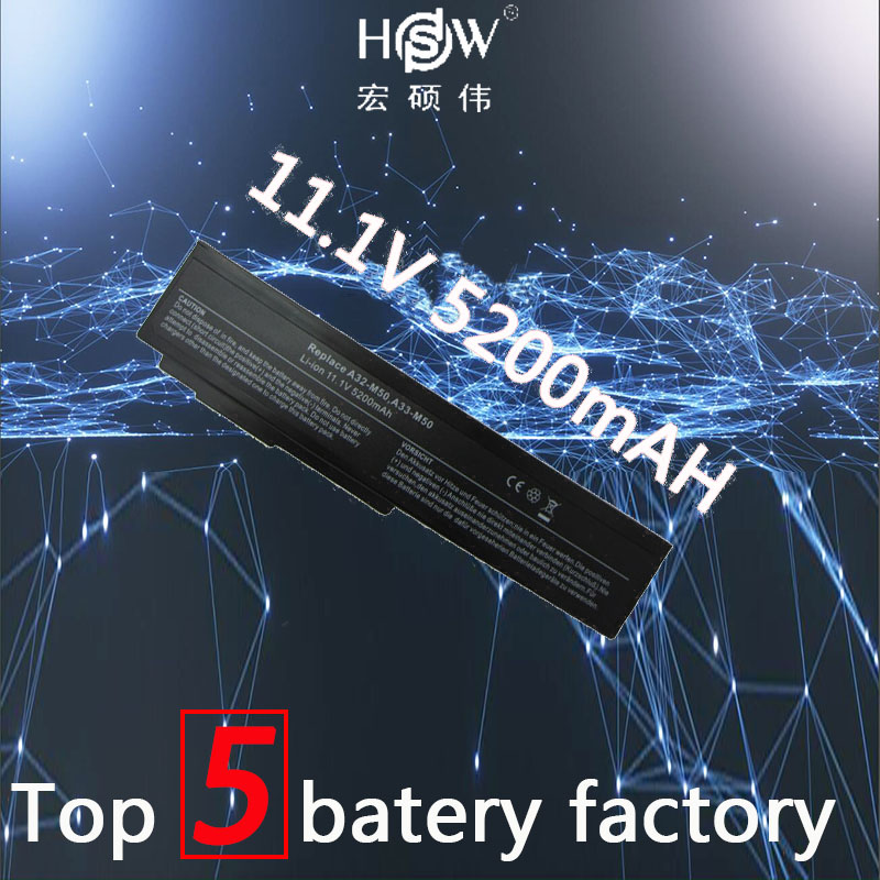 HSW nouvelle batterie d'ordinateur portable pour asus N53S N53SV A32-M50 A32-N61 N53 A32 M50 M50s batterie pour ordinateur portable A33-M50 N61 N61J N61D N61V N61VG