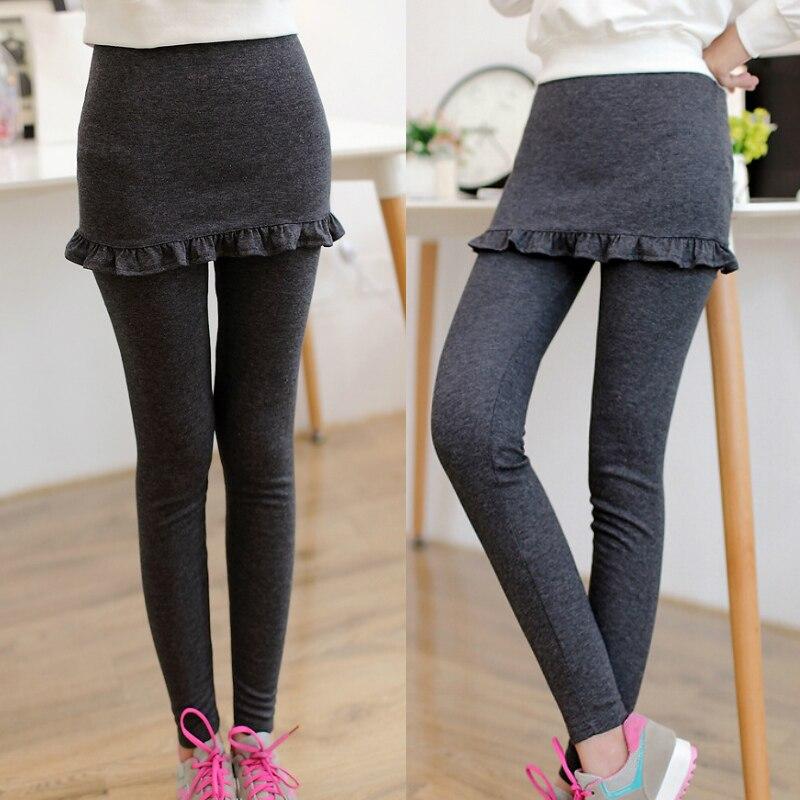 Hot Sale Fashion Ruffles Slim   Leggings   For Womens 2019 Autumn New Skort Culottes Pencil Pants Drop Shipping