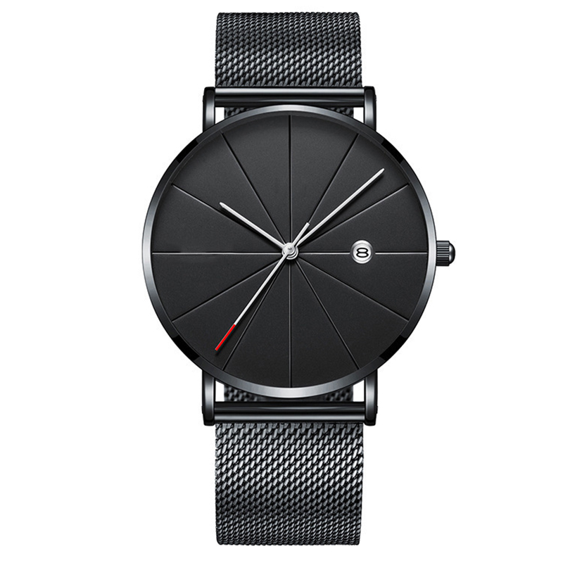 relogios Fashion Mens Watches Top Brand Luxury Sport Watch Quartz Men Casual Slim Mesh Steel Waterproof Watch Relogio Masculino in Quartz Watches from Watches