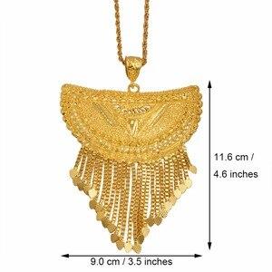 Image 2 - Anniyo Very Big Africa Pendant Necklaces for Women Gold Color Ethiopian/Nigeria/Congo/Sudan/Ghana/Arab Jewelry #098506